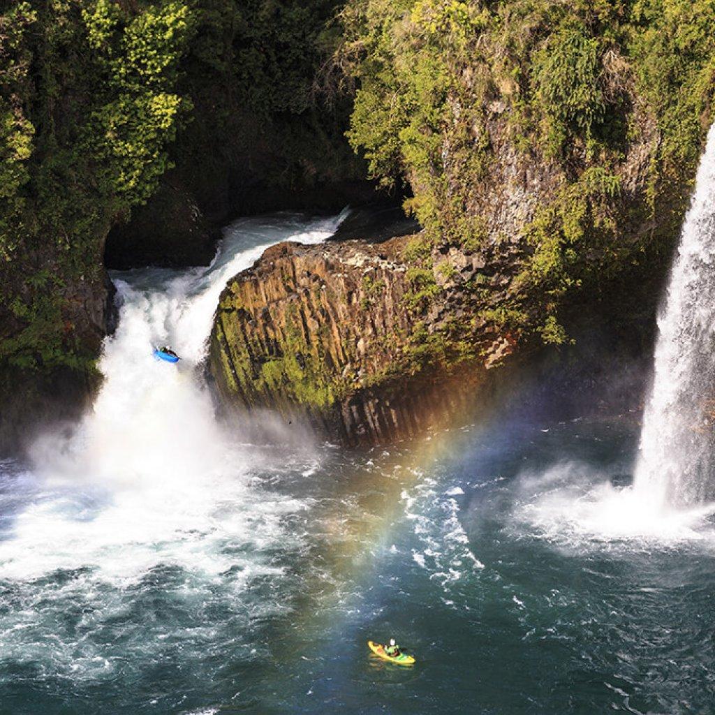 Kayakking en parque Futangue